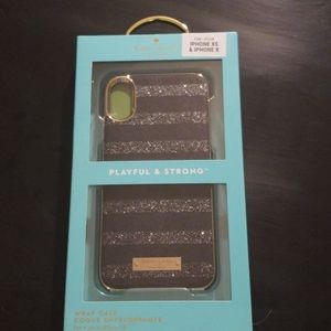Kate Spade iPhone X & Xs Wrap Phone Case NEW